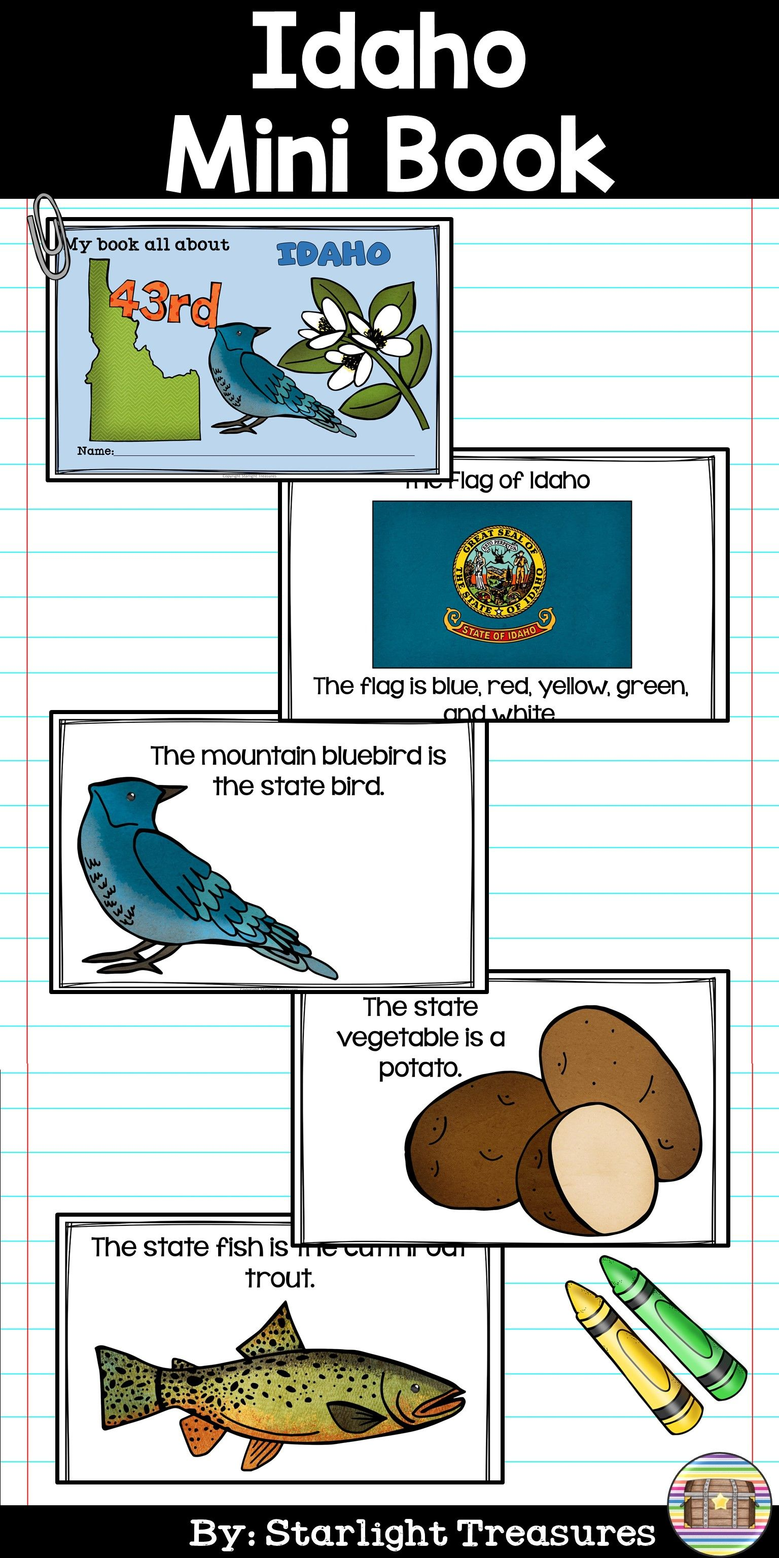 Idaho Mini Book For Early Readers