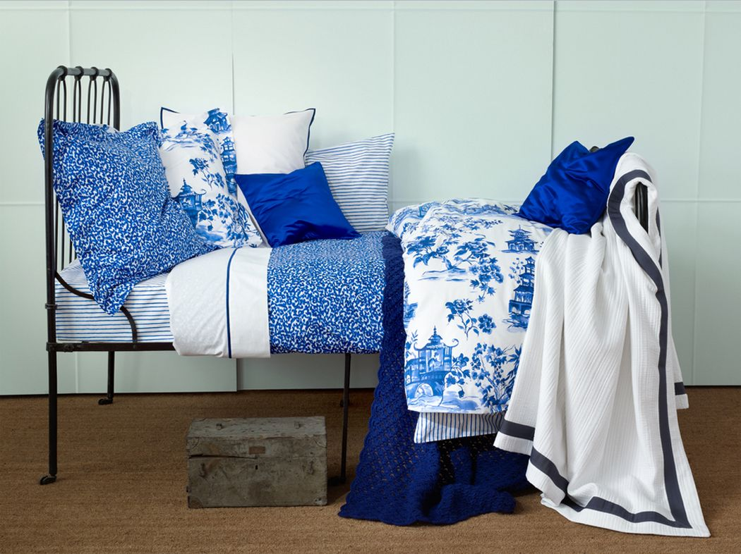 Blue and white bedding - Zara Blue And White Bedding Bing Images