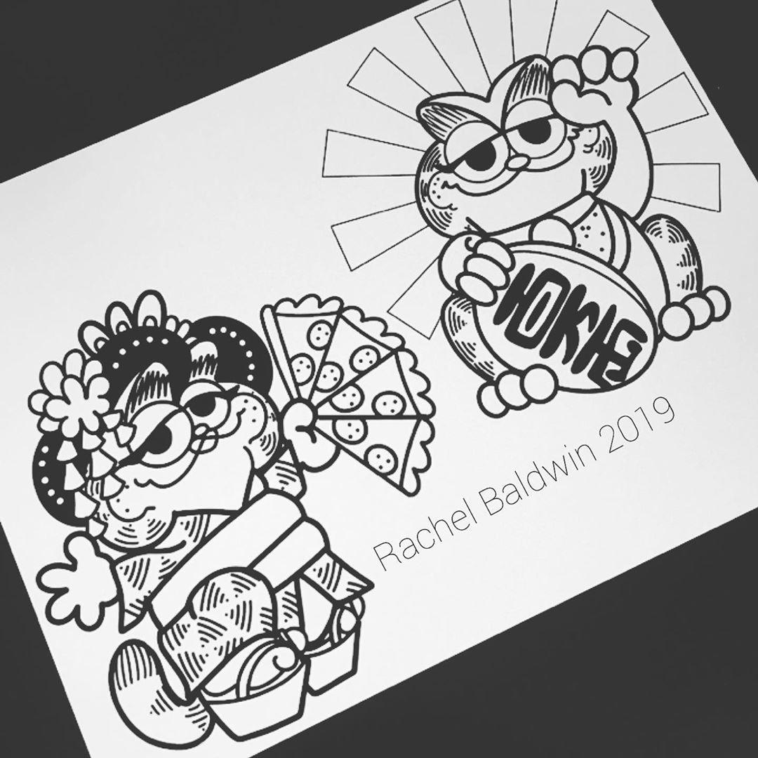 Follow Tattoowonderland On Pinterest For More Garfield Tattoo Design Japanese Garfield Tattoo Flash Gaming Tattoo Flash Tattoo Tattoo Designs