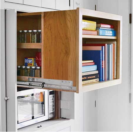 look! secret kitchen cabinet storage | cabinet storage, storage