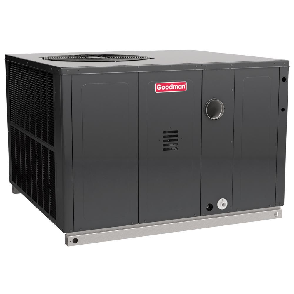 Goodman 5 Ton 14 Seer 81 Afue 80 000 Btu Afue Heating R410a Vertical Package Air Conditioner With Gas Gpg1461080m41 High Efficiency Air Conditioner Air Conditioner Central Air Conditioners