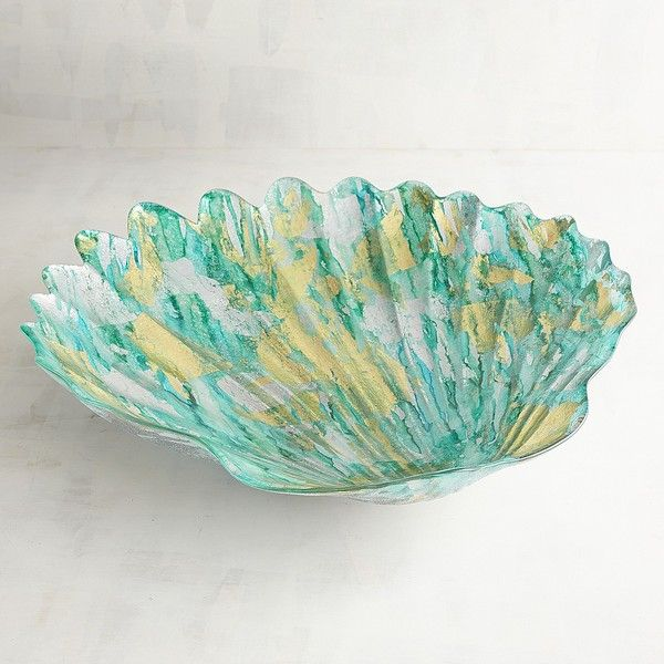 Pier 40 Imports Sea Shell Decorative Bowl 40 Liked On Polyvore Custom Pier 1 Decorative Bowls