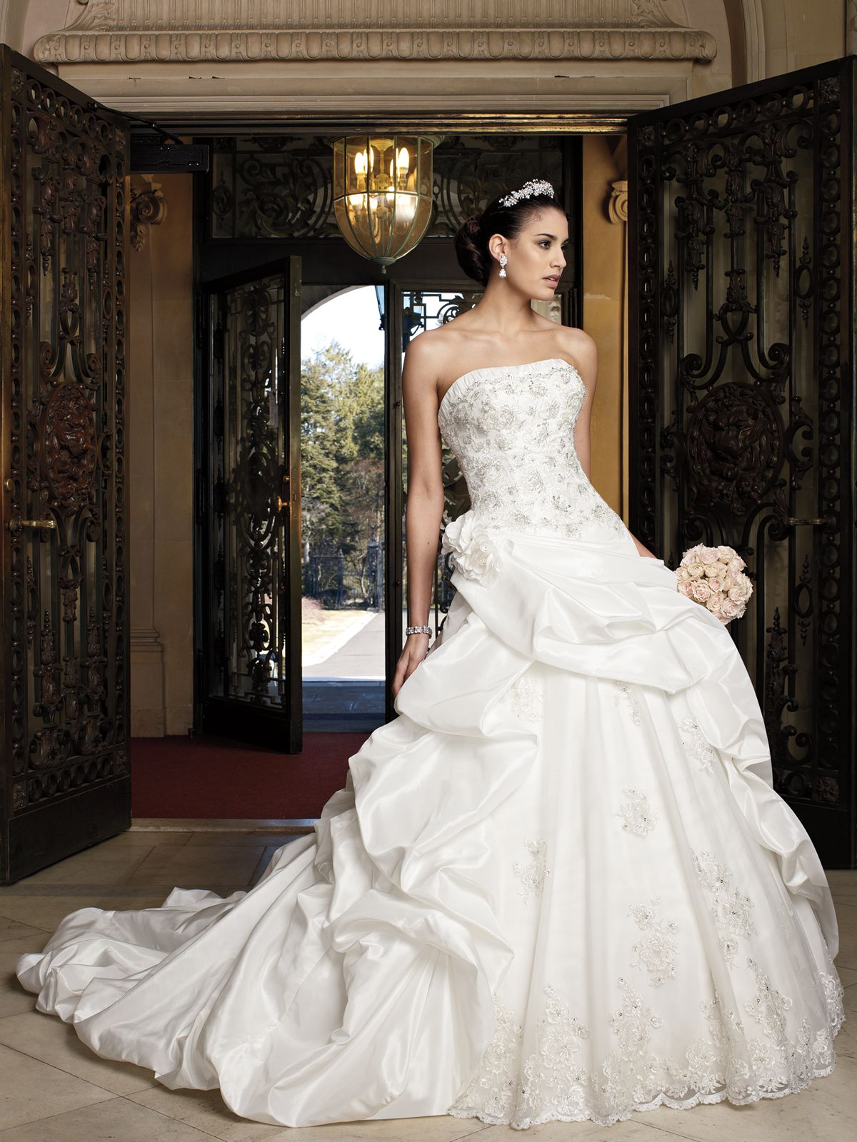 Style no david tutera for mon cheri wedding dresses