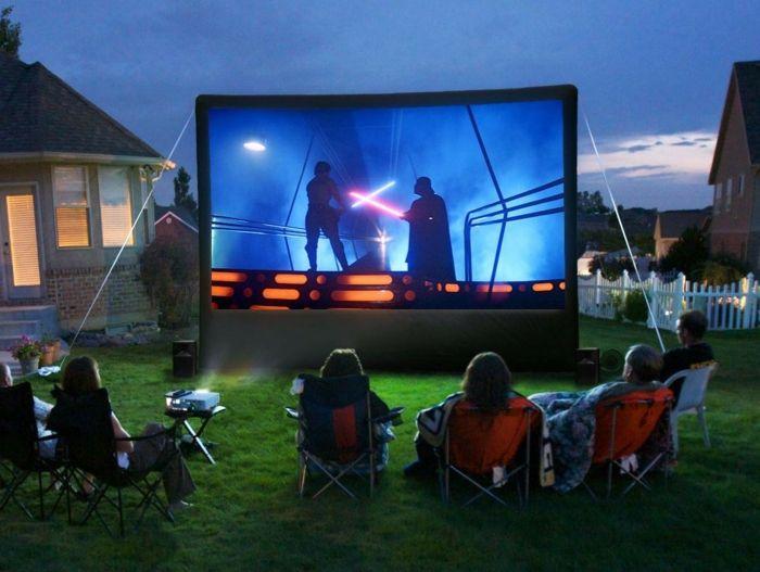 open air kino krea iegartenideen freiluft kino decke stimmung, Hause und garten