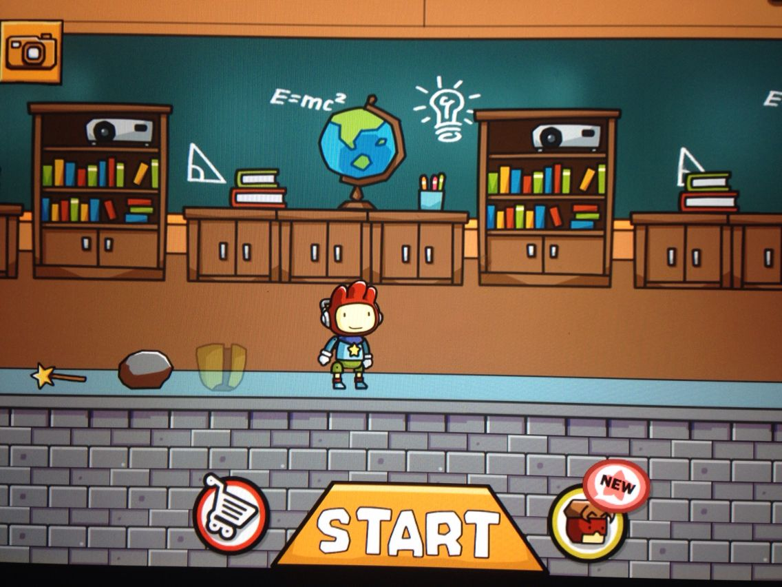 The Deathly Hallows in Scribblenauts XD (in order from left