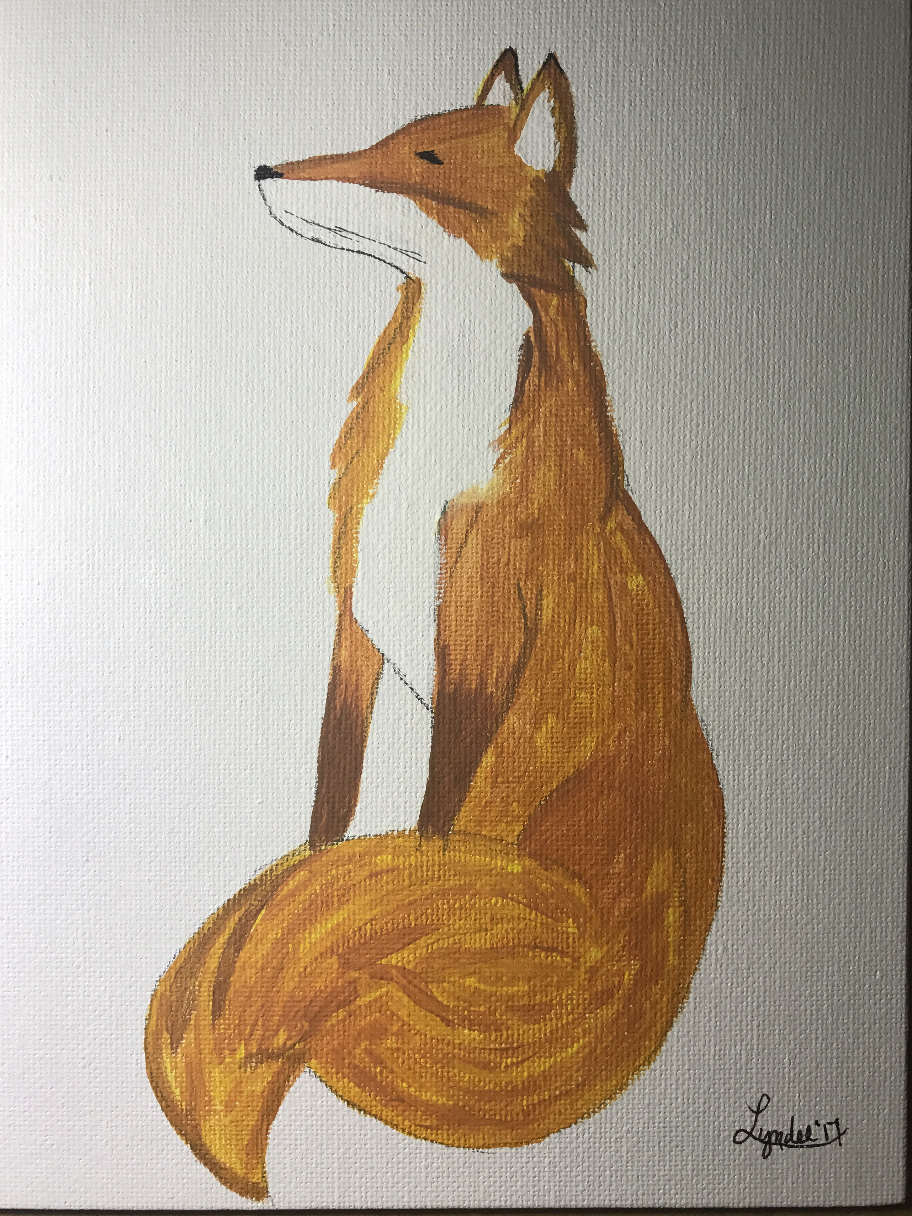First fox in acrylic