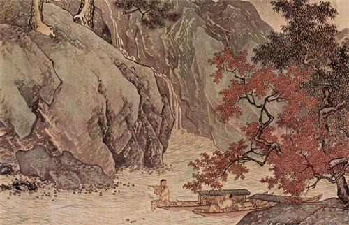 溪山漁隱 卷 - Tang Yin - - Ming Dynasty, 1523
