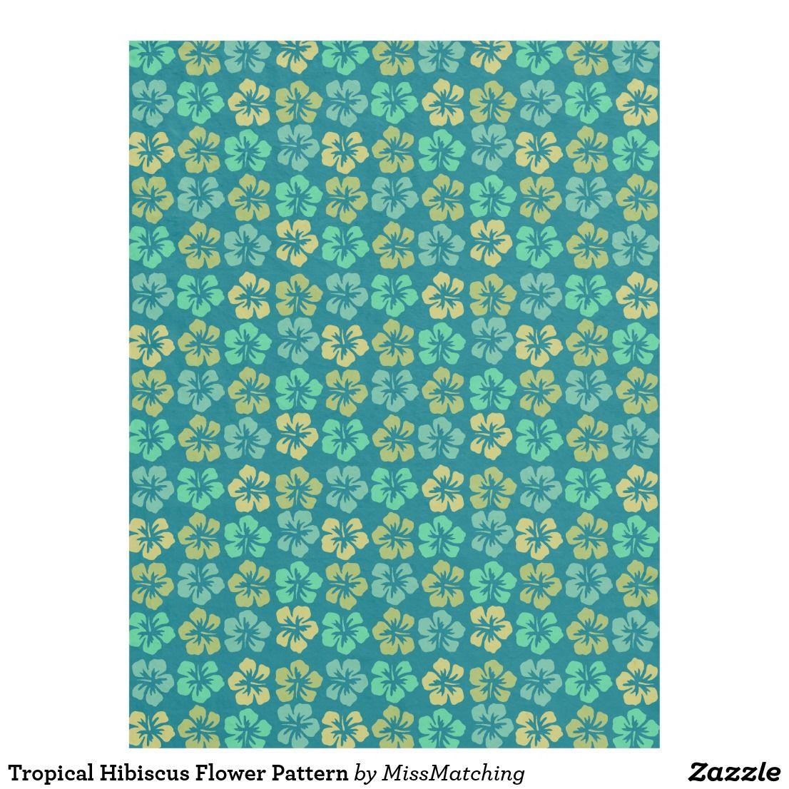 Tropical hibiscus flower pattern fleece blanket fleece blankets