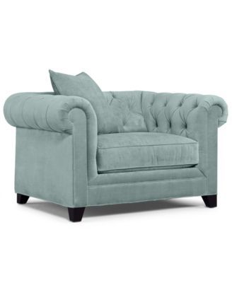 Martha Stewart Collection Saybridge Fabric Living Room Arm Chair: Custom  Colors