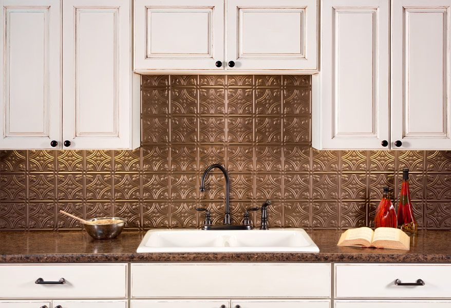 Fasade Backsplash Traditional 1 In Argent Bronze Backsplash