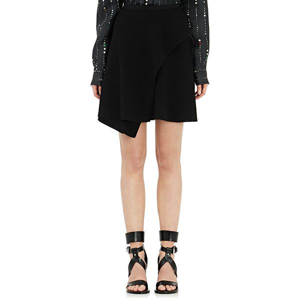 Isabel Marant Women's Aliz Ruffle Skirt (1.255 BRL) ❤ liked on Polyvore featuring skirts, colorless, asymmetrical ruffle skirt, isabel marant skirt, flounce skirt, frilly skirt and clear skirts