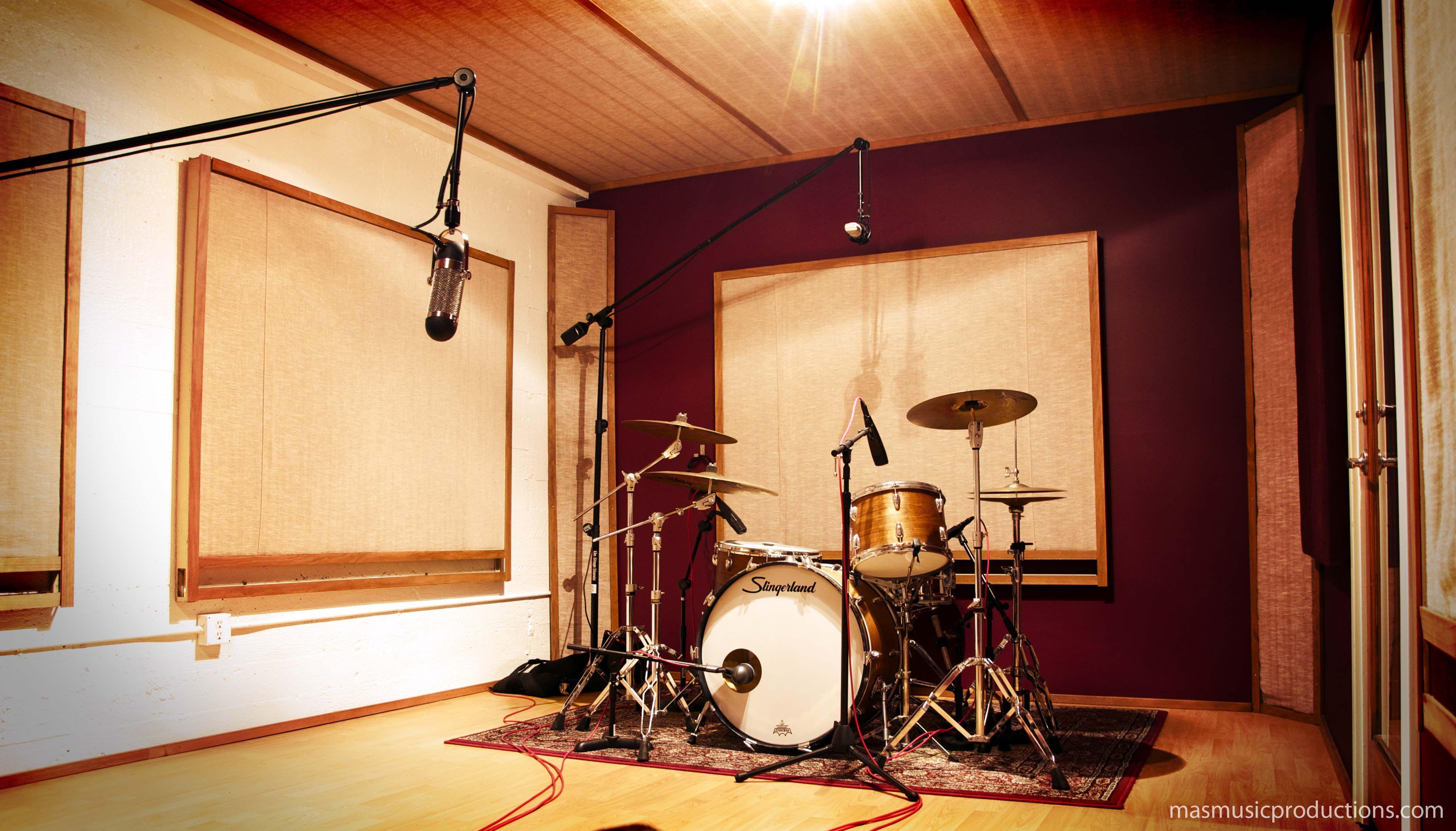 Shipping container music studio joy studio design gallery best - Recording Studio Live Room Drum Tracking Vintage Slingerland