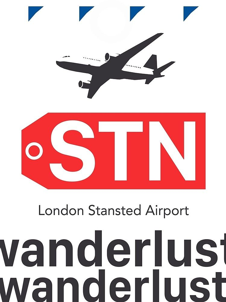 Stn London Stansted Airport By Airport Stickers Redbubble London Stansted Airport London Long Hoodie