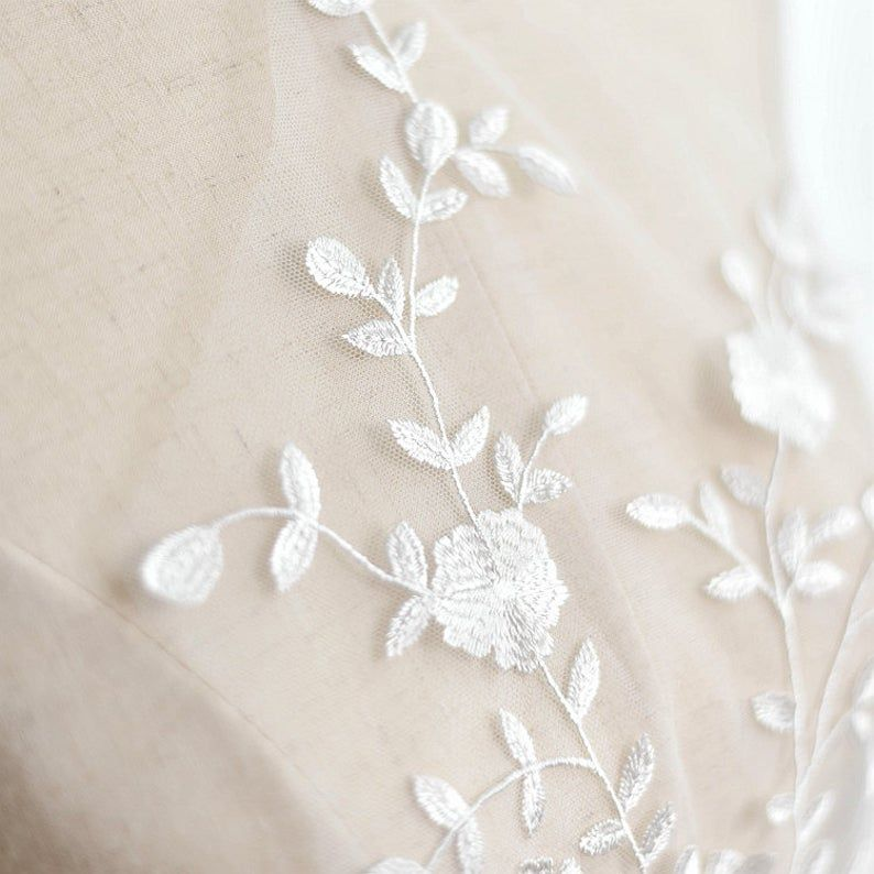 Photo of High Quality Embroidered Lace Applique, Exquisite Embroidere…