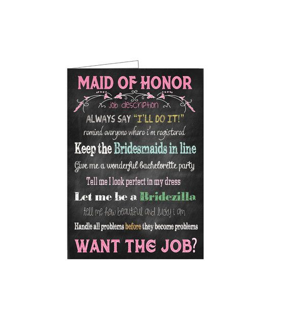 Custom DIY Printable Will You Be My Maid/Matron by TheVintagePen, $5.00