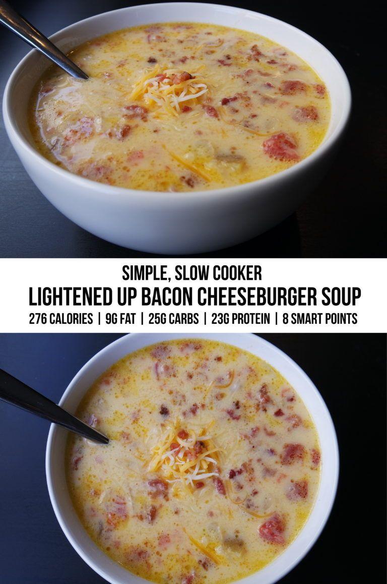 Healthy Bacon Cheeseburger Soup