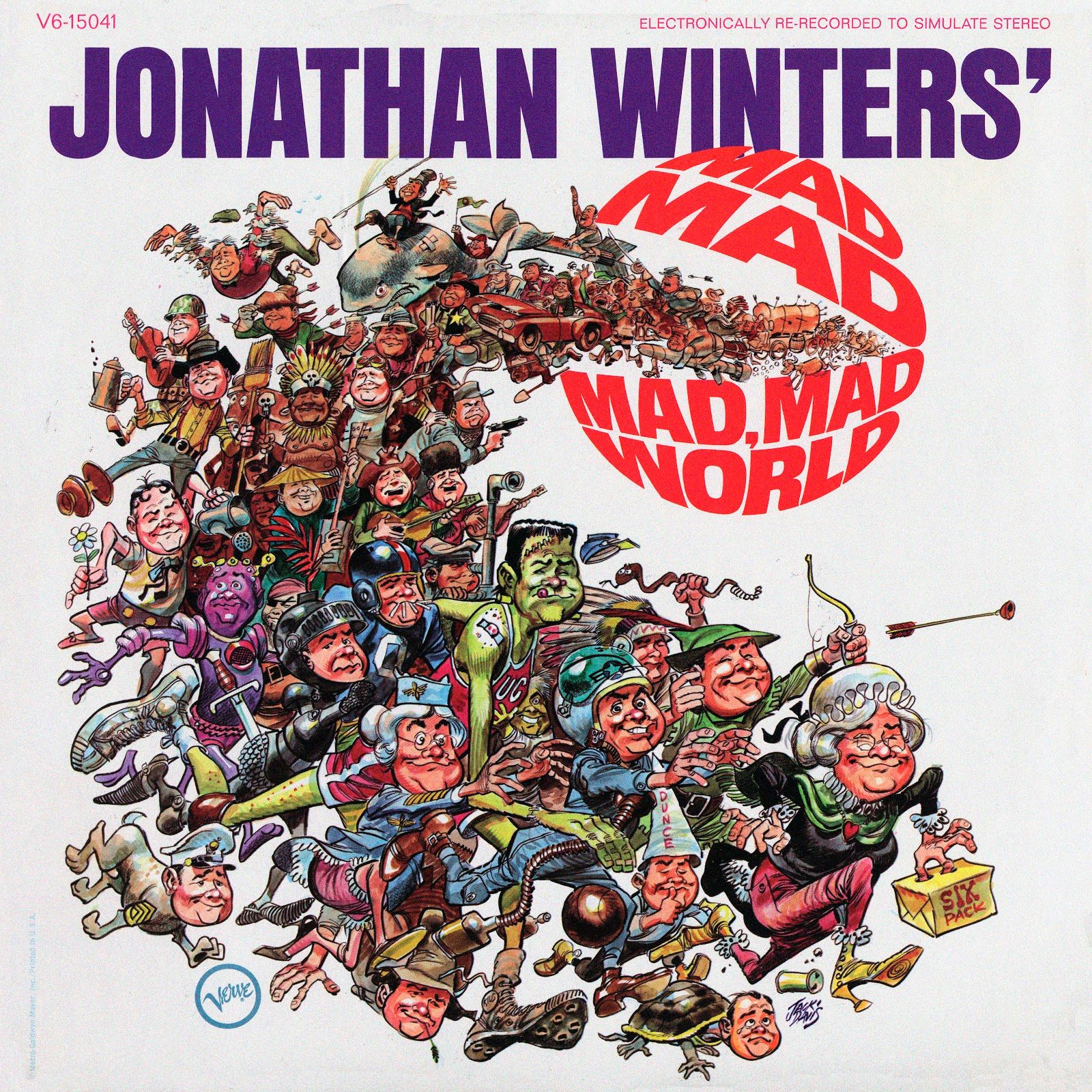 Parting Shot: Jack Davis Cover For Jonathan Winters Mad, Mad, Mad, Mad World [Art] - ComicsAlliance | Comic book culture, news, humor, commentary, and reviews