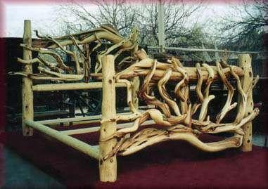 Juniper Bed Frame Cedar Furniture Rustic Wood Furniture Log
