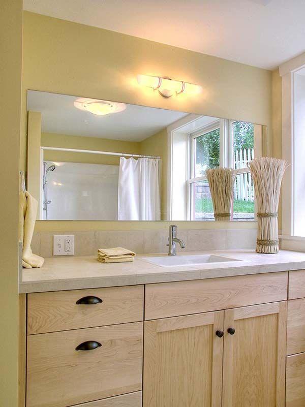 Large Bathroom Mirror Set For Richly Decorated Walls  Httpwww Enchanting Large Bathroom Vanity Mirrors Design Ideas