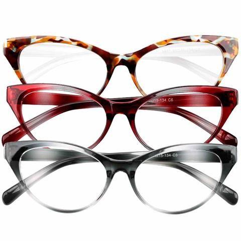 324febb566 SOOLALA Ultralight Cat Eye Reading Glasses Women Men Eyewear Spectacles  Eyeglasses Full Frame 0 +1 +1.5 +2 +2.5 +3 +3.5