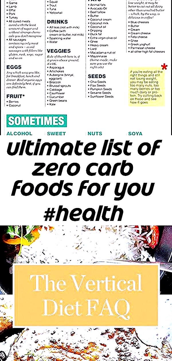 ULTIMATE LIST OF ZERO CARB FOODS FOR YOU #health #fitness #diy #foods #carb #beauty #DiyDietFood Che...