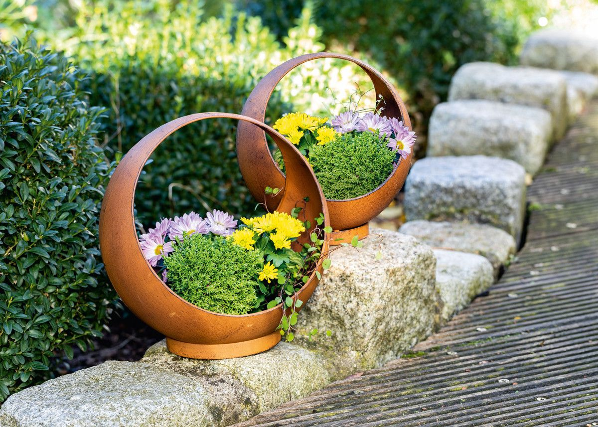 Pflanzkugel Rost 2er Set Im Frank Flechtwaren Und Deko Online Shop Plants Colorful Plants Handmade Plant