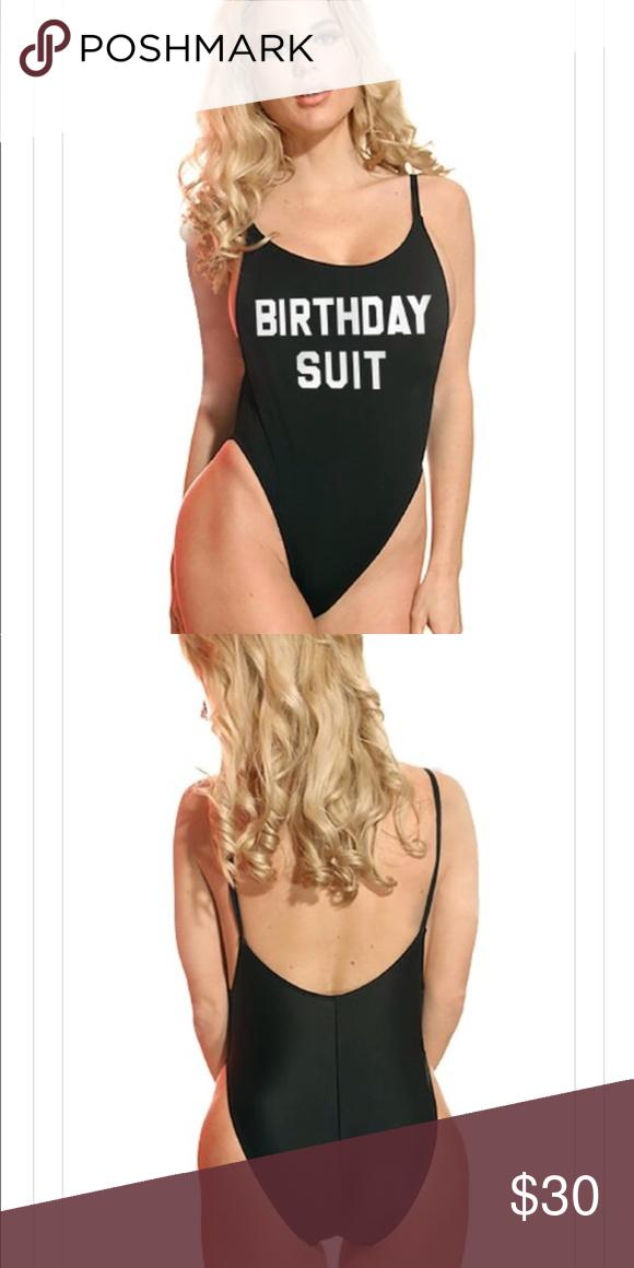 New Birthday Suit Swimsuit Brand New Black Birthday Swimsuit