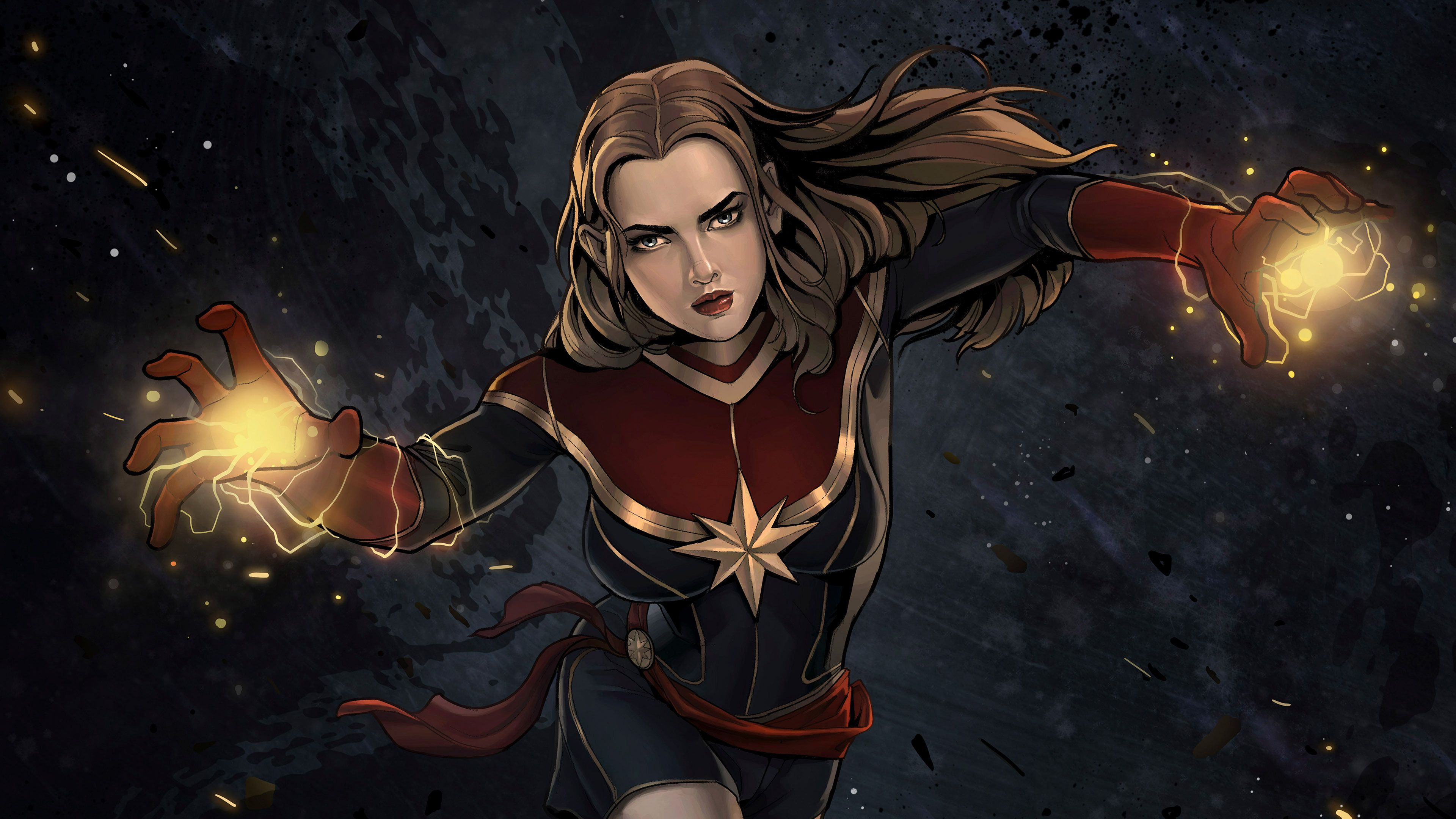 Captain Marvel Comic Artwork 4k Superheroes Wallpapers Hd Wallpapers Digital Art Wallpapers Captain Marv Marvel Comics Artwork Captain Marvel Comics Artwork