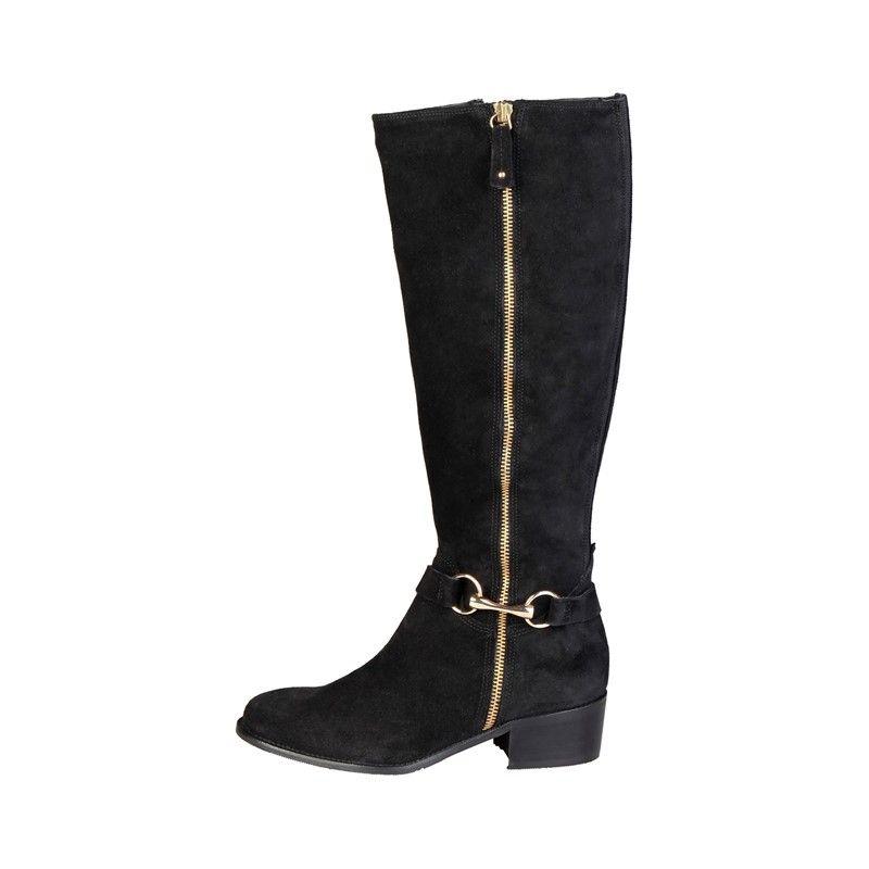 4105215 Leder Suede Elegante Damen Stiefel Boots Pierre Cardin