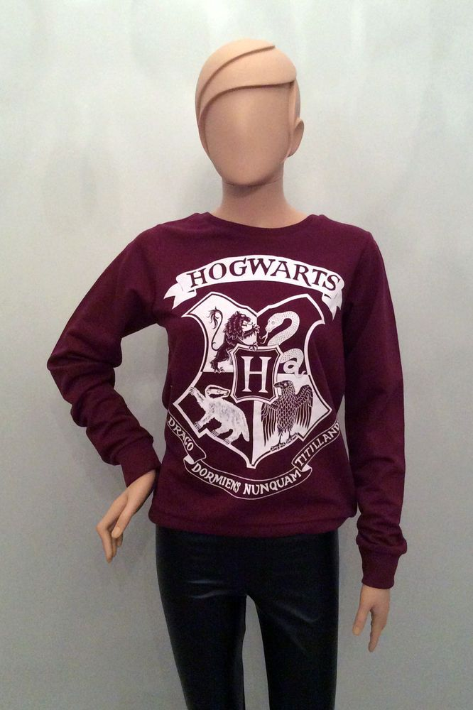 5e04b9be550e59 Primark Official HARRY POTTER HOGWARTS Crest Logo JUMPER SWEATSHIRT in  Clothes, Shoes   Accessories, Women s Clothing, Jumpers   Cardigans   eBay