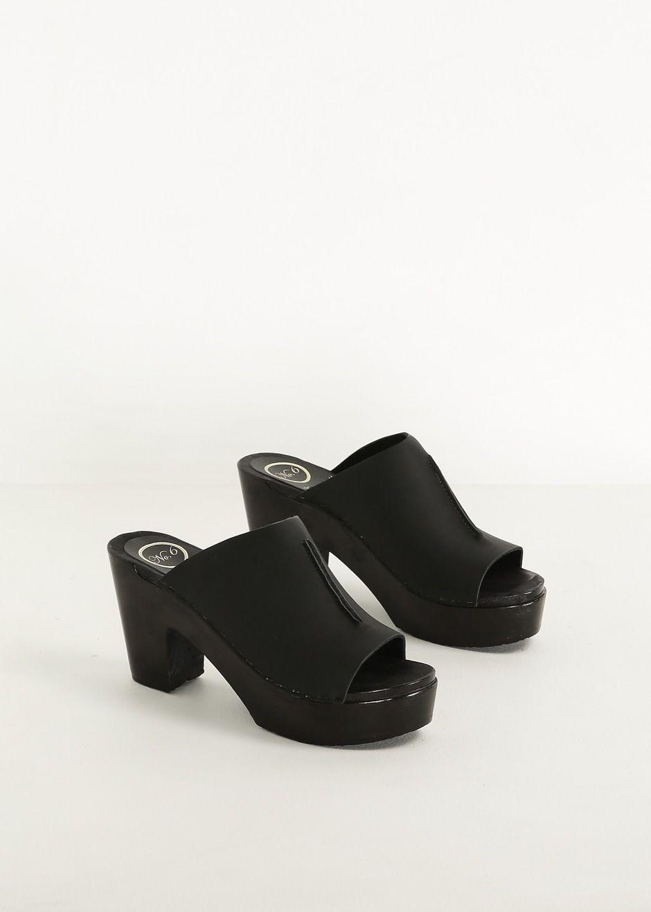 No. 6 clogs | Black | Shoes, Shoes sneakers, Clogs