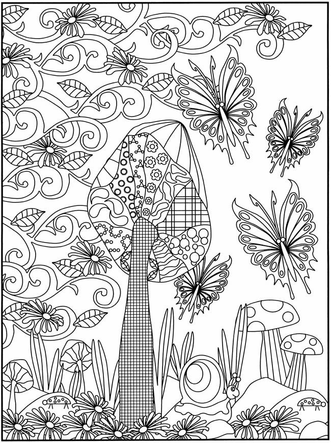 Dibujos para colorear de la primavera | Dover publications, Adult ...
