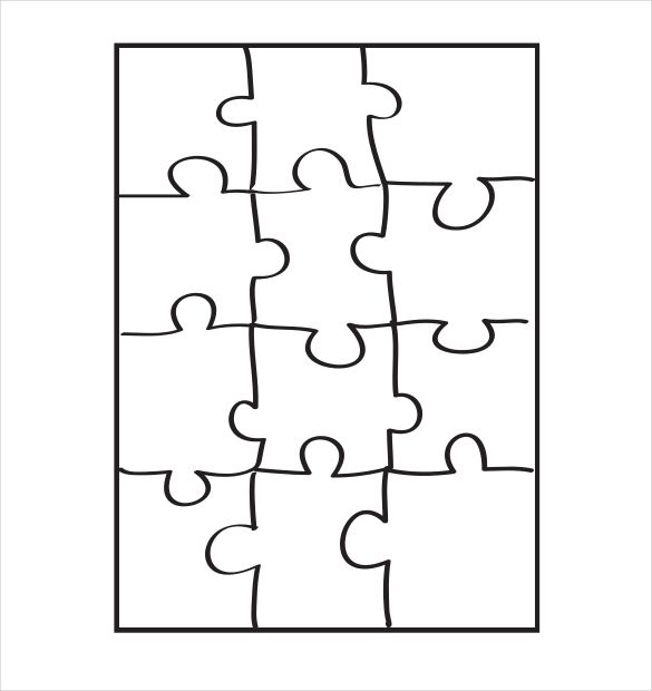 19 Puzzle Piece Puzzle Piece Template Puzzle Piece Crafts