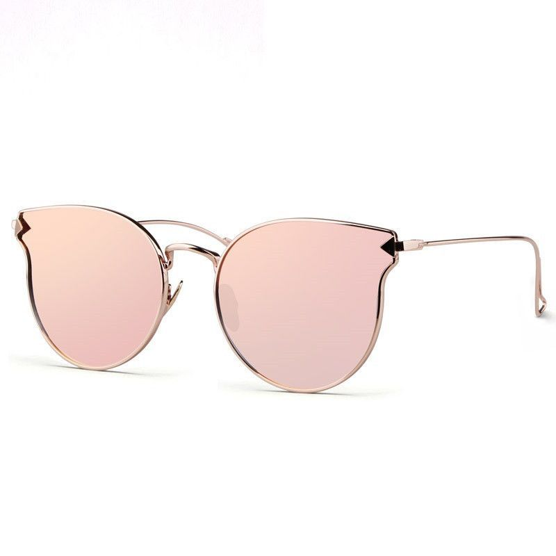 5e4bf0784c Use discount code: CATEYE. Fashion Sunglasses Women Cat Eye Sunglasses  Famous Lady Brand Designer Twin-Beams Sunglasses Coating Mirror