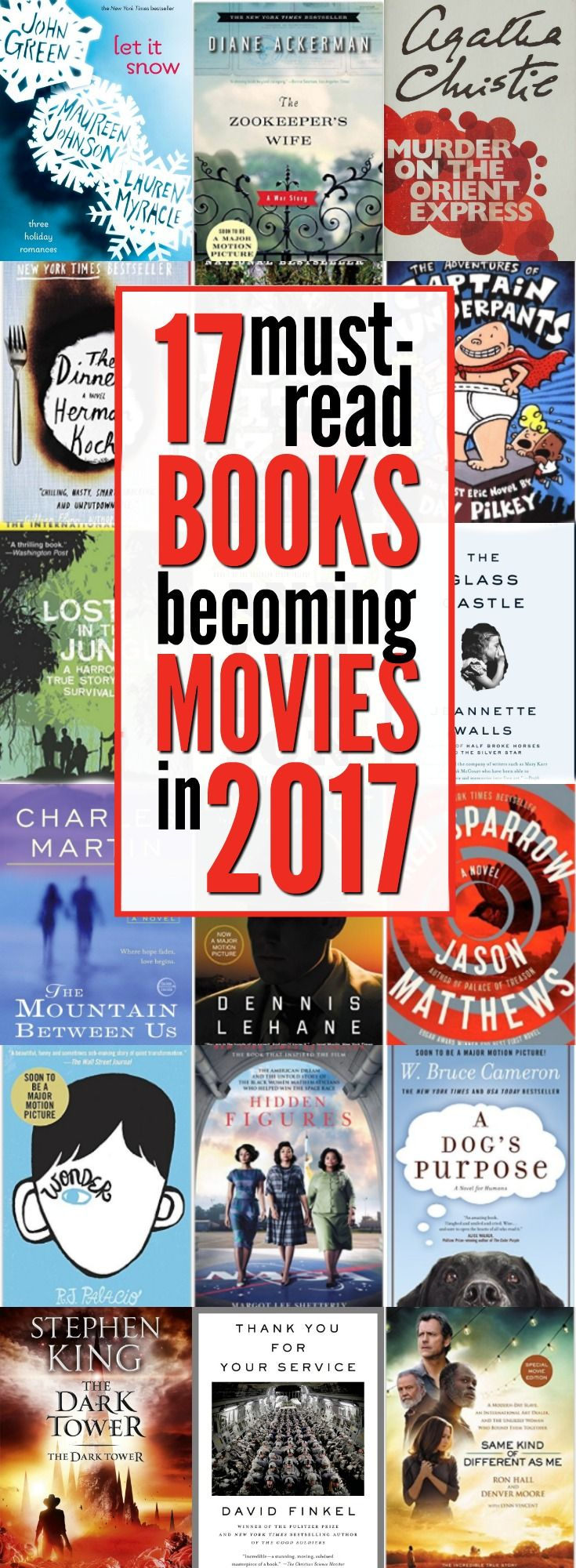 Have You Read These 17 Books Becoming Movies In 2017 With Images Book Club Books Best Books To Read Books To Read