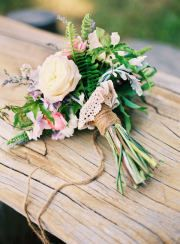 simply lovely wedding flower bouquet