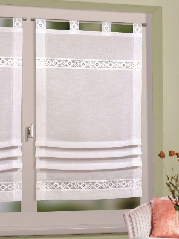 raffrollo landhausgardinen stickmuster im landhausstil fuggony pinterest decor design. Black Bedroom Furniture Sets. Home Design Ideas