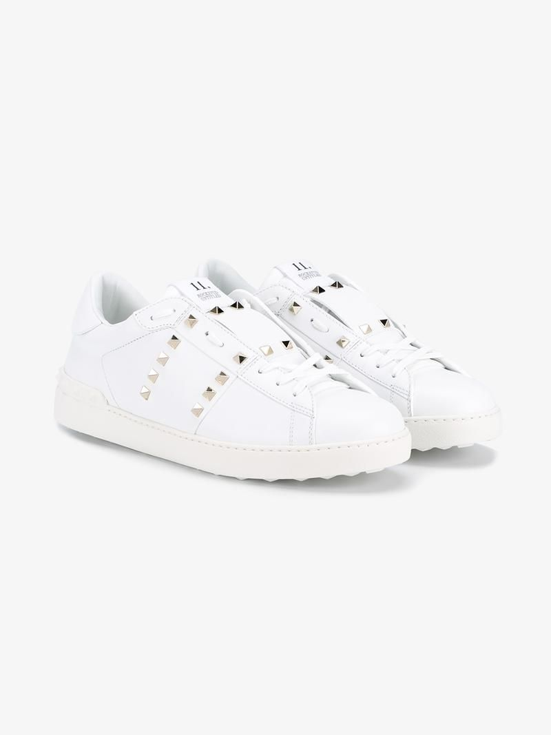 2d4a028ad135f VALENTINO  ROCKSTUD OPEN  LOW-TOP SNEAKERS.  valentino  shoes  sneakers