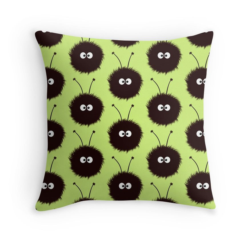 #Green #Cute Dazzled Bugs #Pattern Throw #Pillows by Boriana Giormova | Redbubble