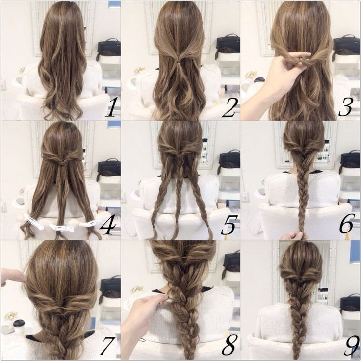 Easy Pulled Back Braid Hairstyle For Long Hair Hair Styles Hairstyle Braided Hairstyles Easy