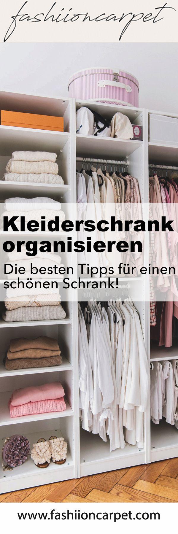 Tipps Kleiderschrank organisieren und aufräumen (mit