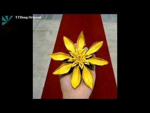 Origami yellow flower 8 petals tutorial hoa vng 8 cnh t trung origami yellow flower 8 petals tutorial hoa vng 8 cnh t trung ng mightylinksfo