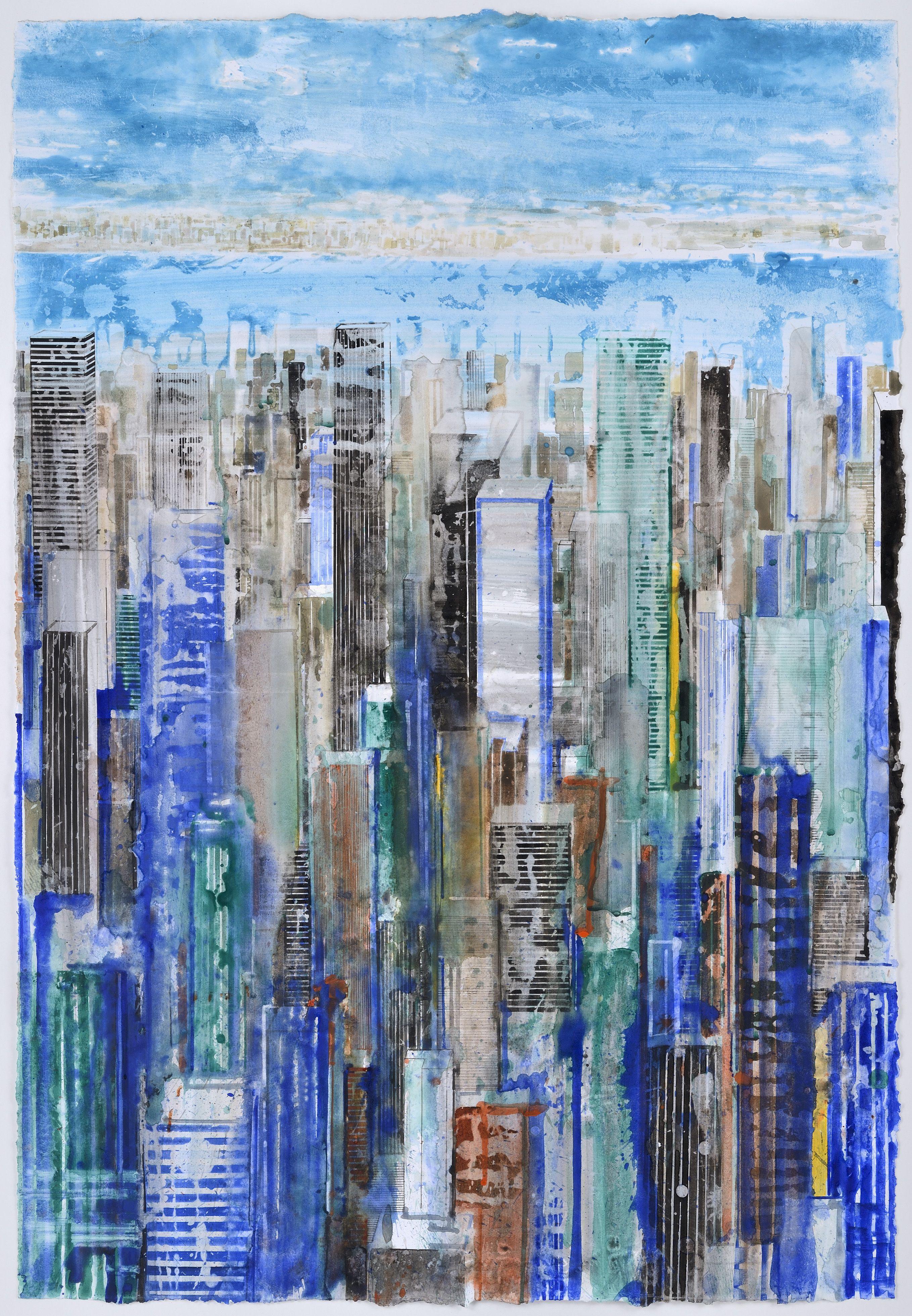 NY - Gottfried Salzmann@Courtesy Galerie Arcturus / Aquarelle sur papier