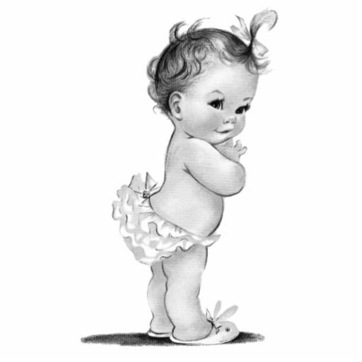 Adorable vintage baby girl shower photo sculpture is perfect for use as a baby shower table decoration or as a baby shower gift. Pick your size and quantity by choosing the customize it button.