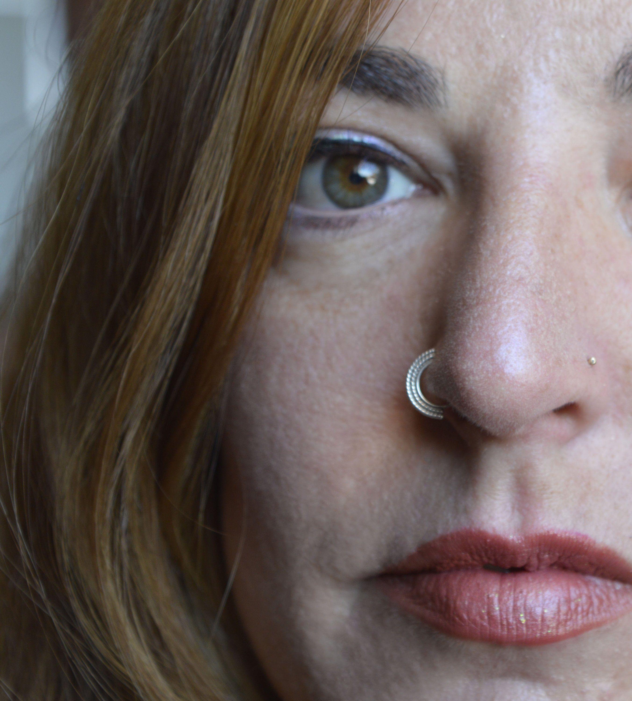 Piercing on nose  Tribal Nose Ring Nose Piercing Nostril Ring Indian Nose Ring