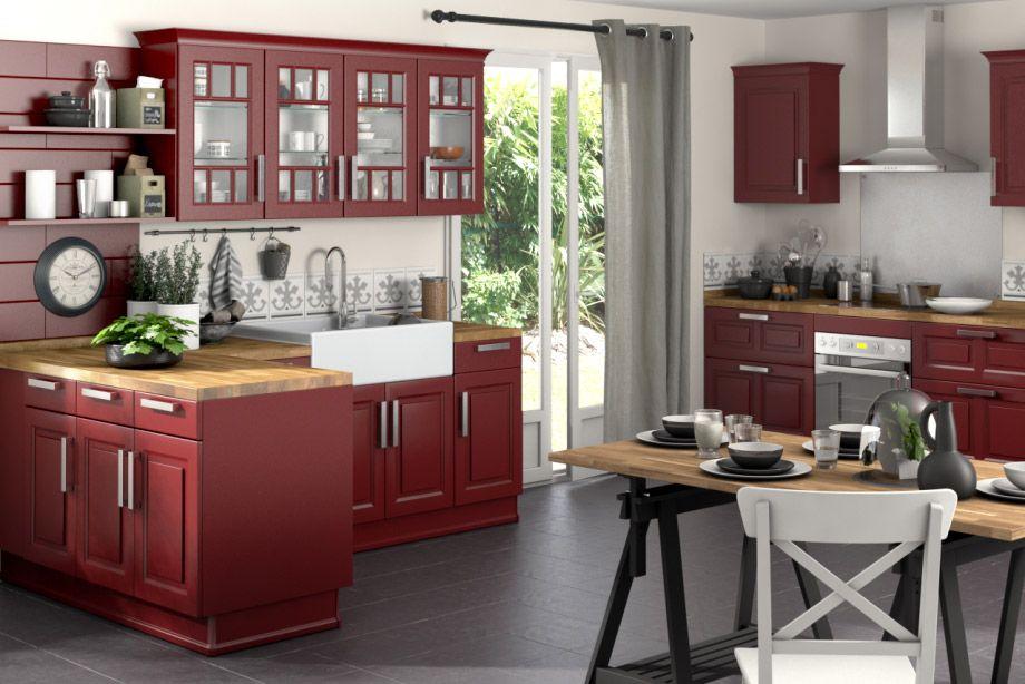 cuisine campagnarde rouge stunning r novez votre cuisine avec relook with cuisine campagnarde. Black Bedroom Furniture Sets. Home Design Ideas