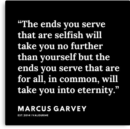 1   | Marcus Garvey | Marcus Garvey Quotes | 200615 | Black Excellence Canvas Print by QuotesGalore