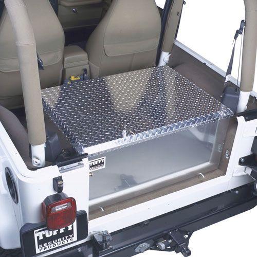 Tuffy Security Products Aluminum Rear Cargo Storage Box For 76 10 Jeep Cj 5 Cj 7 Cj 8 Scrambler Wrangler Yj Tj Jk Unlimited Jeep Cj Jeep Jeep Yj
