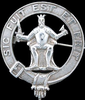 Stewart Clan Badge - Motto: Sic Fuit Est Et Erit (Thus It Was, Is, and Shall Be)