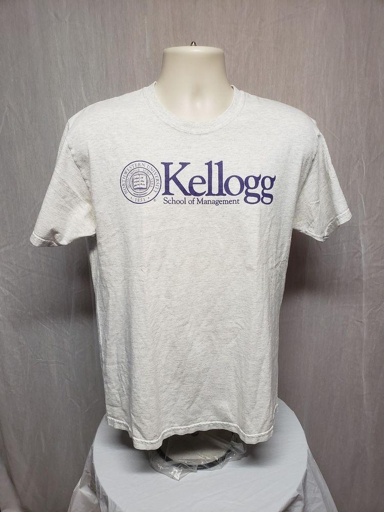 007c71908634 Kellogg School of Management Northwestern University Adult Medium Gray  T-Shirt #Champion